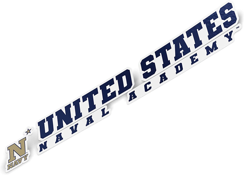 15 Inch Sticker United States Naval Academy USNA Midshipmen NCAA Navy Name Logo Vinyl Decal Laptop Water Bottle Car Scrapbook