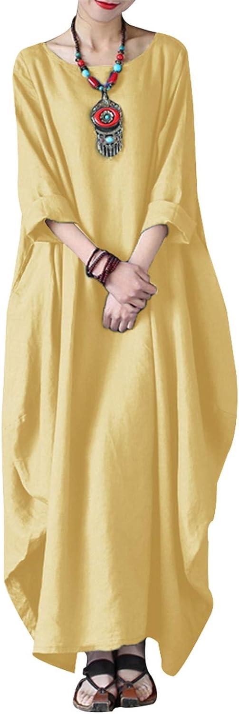 vestibilit/à morbida con scollo a V Abito estivo da donna a maniche corte casual VONDA stile retr/ò