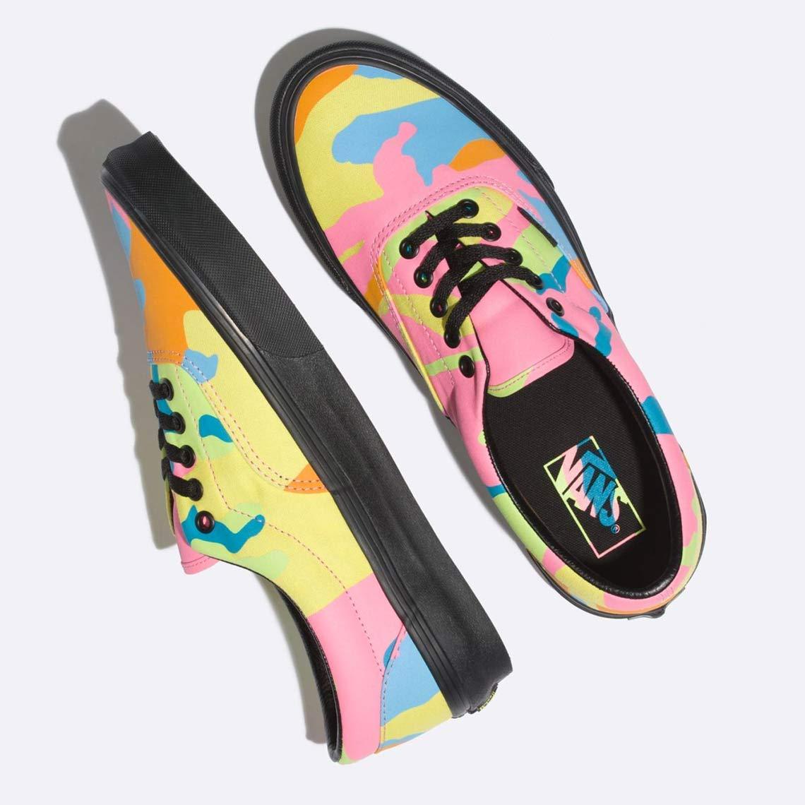 06486dc6edb75 Amazon.com | Vans Era Neon Camo Multi Camo/Black Women's Classic Skate  Shoes Size 8 | Skateboarding
