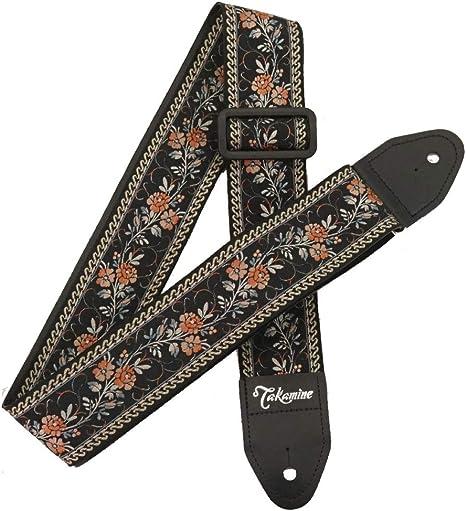 Correa para guitarra TAKAMINE TGS-6 BL diseño de flores: Amazon.es ...