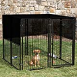 Tobbi 10'×10' Outdoor Dog Kennel Cover Knitted Screen Sun Shade Cloth UV 85%