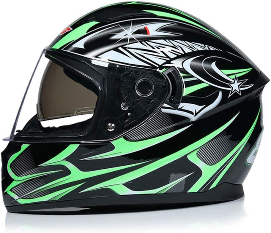 Herren Doppelobjektiv Motorradhelm Anti-Fogging Klappbarer Motorradhelm Outdoor Motocross Helm Mountain Moto Zubeh/ör