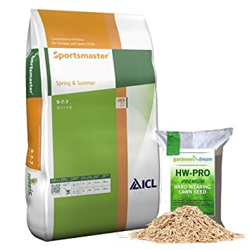 25kg SPRING AND SUMMER PROFESSIONAL LAWN TREATMENT FEED GRASS ...