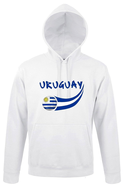 Supportershop –  Sudadera con Capucha Uruguay Hombre, Color Blanco, FR: S (Talla del Fabricante: S) SUPQM|#Supportershop 5060542526104
