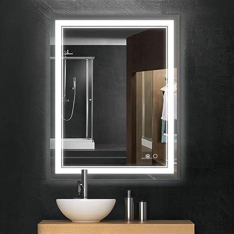 Amazon Com Keonjinn 36 X 28 Inch Bathroom Led Vanity Mirror Anti Fog Wall Mounted Makeup Mirror With Light Horizontal Vertical Kitchen Dining