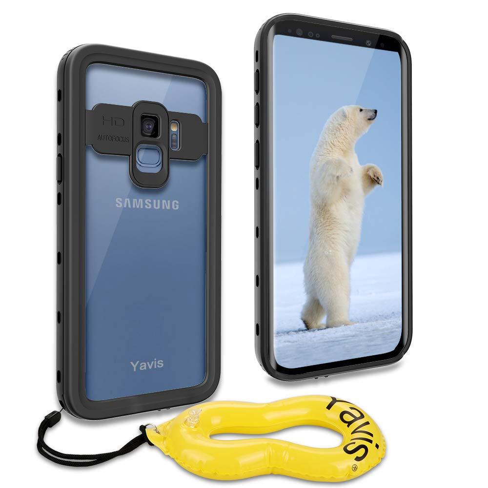 YAVIS Funda Impermeable para Samsung Galaxy S9, protección Integral Waterproof Case Anti-rasguños a Prueba de choques Polvo Ultra Delgado Cover ...