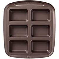Pyrex Asimetria Non-Stick Mini Loaf Tray, with 9 cavities, Brown, 29cm x 25.5cm x 4.3cm