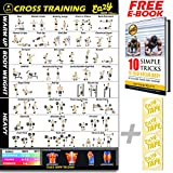 Eazy How To Cross Training Exercise Workout Banner Poster BIG 28 X 20 Train Endurance, Tone, Build Strength & Muscle Home Gym Chart
