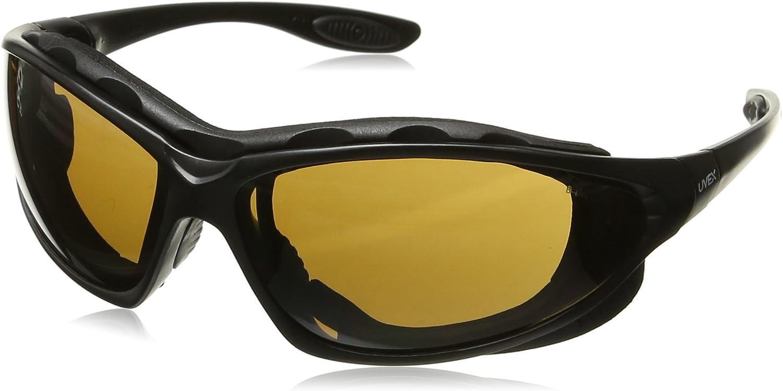 Honeywell S0601X Uvex by Seismic Gafas de seguridad selladas con marco de elastómero de poliéster termoplástico negro y lente antivaho de policarbonato espresso, de plástico, 2,5 x 2,5 x 2,5 cm