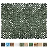 IUNIO Camouflage Netting, 6.5ft x 5ft / 2m x 1.5m Custom Dark Green Camo Net Great for Sunshade Camping Shooting Hunting etc.