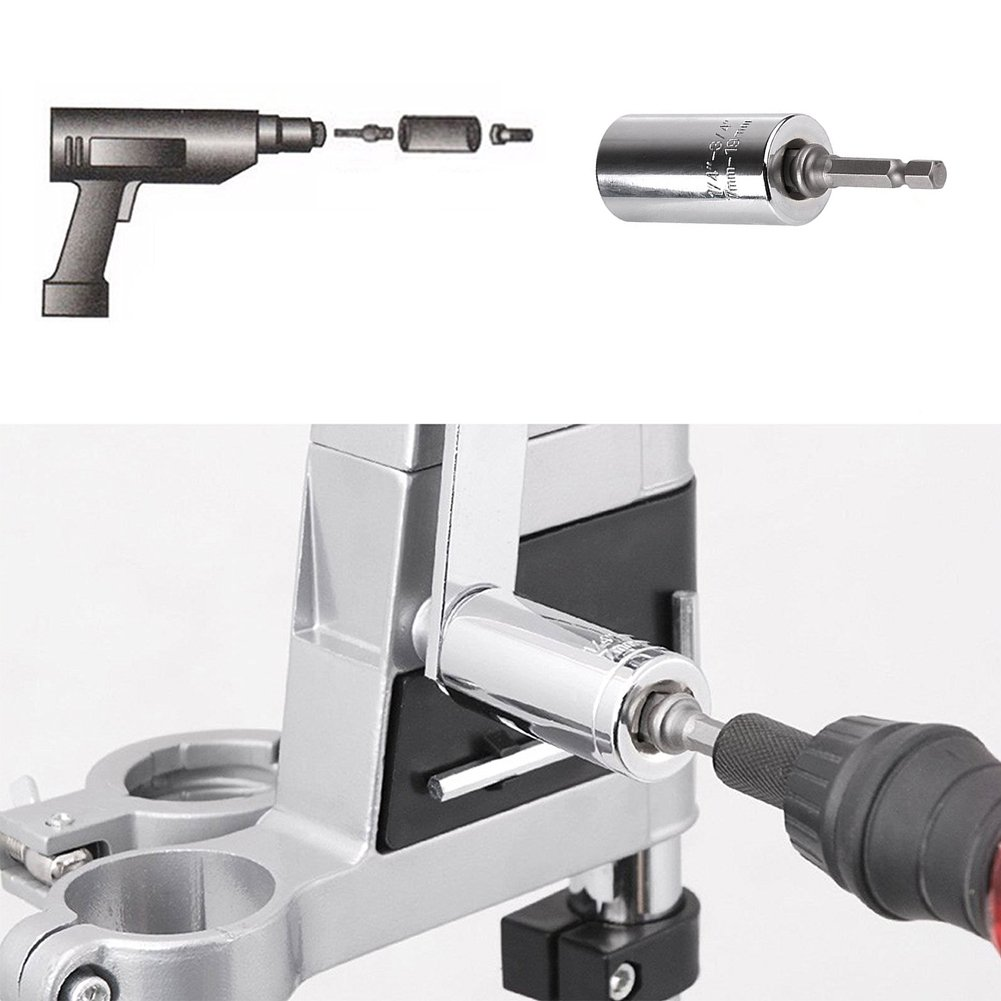 Universal Socket 7mm-19mm Multi-function Socket with Power Drill Adapter Tool Professional Repair Tools (7-19 mm)