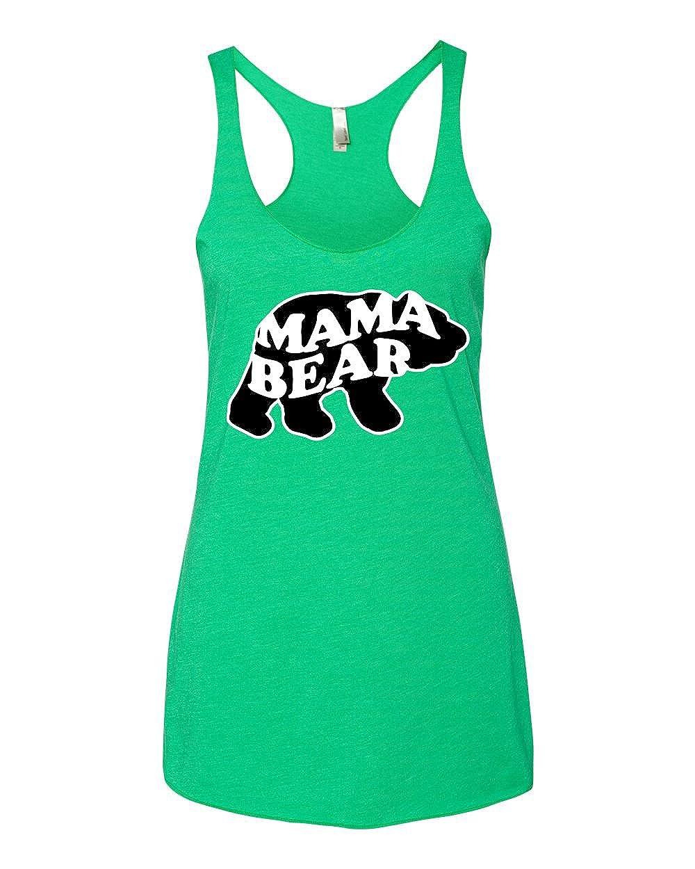 Medium Mama Bear Womens Humor Premium Tri-Blend Racerback Tank Top Envy Animal Design