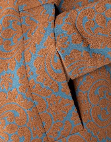 RENÉ LEZARD Damen Mantel Polyacryl Warme Jacke Gemustert, Größe: 36, Farbe: Braun