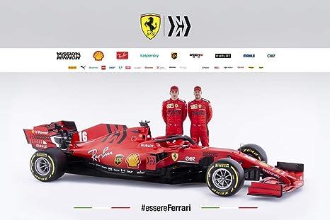 Ferrari Sf1000 F1 Car 2020 Wall Poster Print 43 Cm X 61 Cm 17 Inches X 24 Inches A2 Formula One Vettel Leclerc Amazon De Küche Haushalt