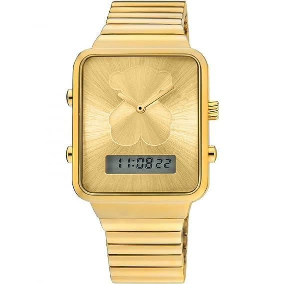 etbotu mujeres comercio electrónico cuadrado oso Dial analógico Digital pantalla Dual reloj two-movement reloj