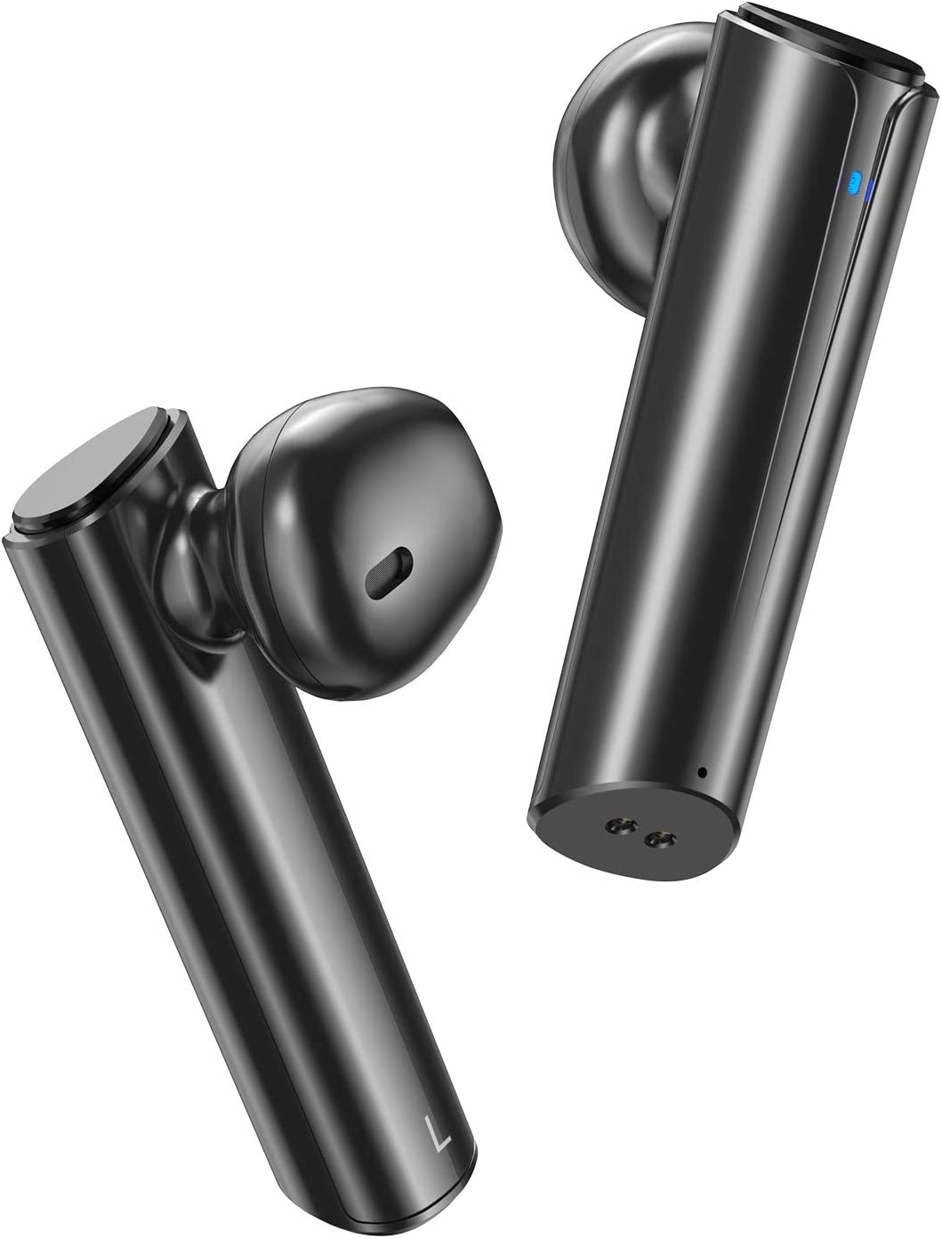 Wireless Earbuds Bluetooth Earbuds V5.0 Wireless Headphones, True Stereo Wireless Earphones with 24Hrs Playback, Comfy Wear Built-in Dual Mic, Hi-Fi Sound Bluetooth Headset w Portable Charging Case