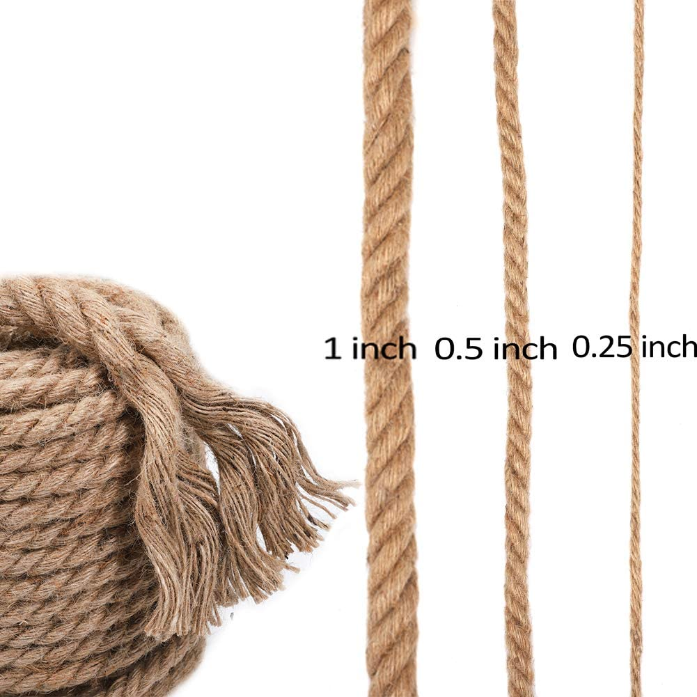 0.5 in x 25 ft Jueapu Twisted Jote Rope