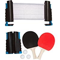 Trademark Innovations Anywhere Table Tennis Set de Tenis de Mesa con paletas y Bolas