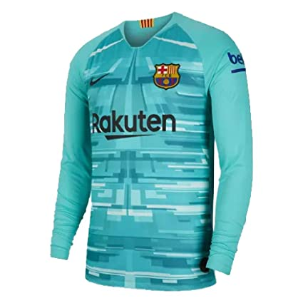 the latest f411b ee7ba Amazon.com : Nike 2019-2020 Barcelona Home Goalkeeper ...