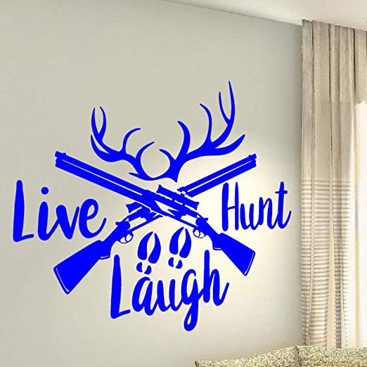 guijiumai Vinilo Tatuajes de Pared Live Hunt Laugh Hunter Deer ...