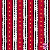 Snoopy Flying Ace Stripe Red Fabric by the Yard