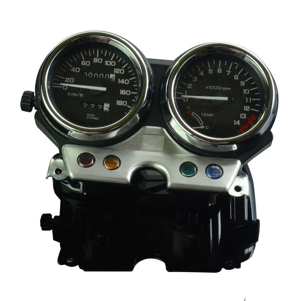 Speedometer Tachometer Odometer Speedo Meter Tacho Gauge Instrument For HONDA CB400 1992-1994 Black Motorcycle Srteet Bike by Unknown (Image #1)