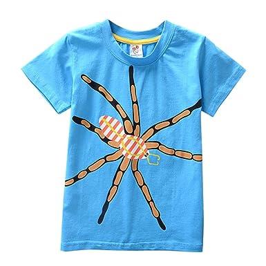 1ec68d6452028 Vêtements Garçon Ete Oyedens Cartoon Enfants T-Shirt pour Garçon Fille  T-Shirt Unisexe