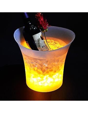 LED colorido Gradient cubitera de hielo para champán rojo vino bebidas cerveza enfriador de hielo Bar