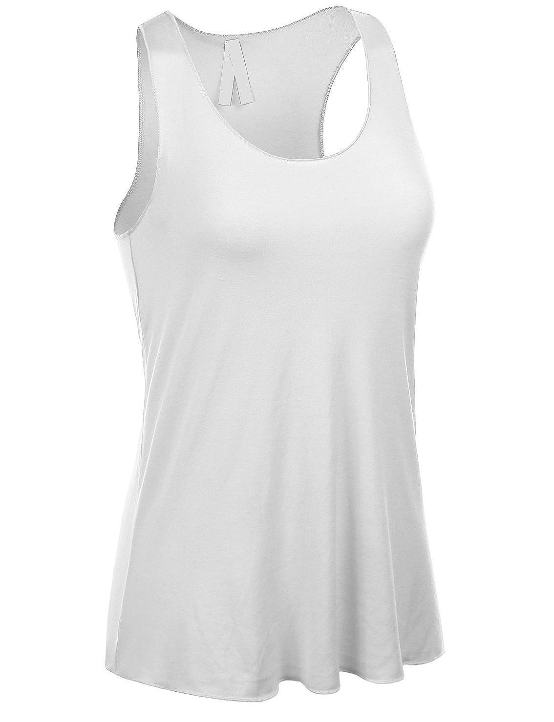 68d7b75fcebec Emmalise Women s Flowey Lightweight Yoga Workout Tank Top Tee Tshirt -  Junior Sizes at Amazon Women s Clothing store