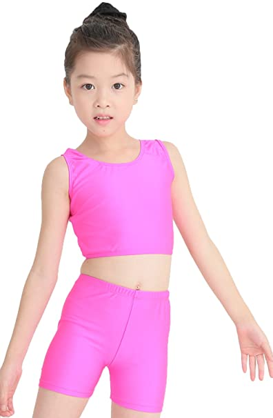 3471e91c3 Amazon.com  speerise Girls 2-Piece Gymnastics Dance Tank Top with ...