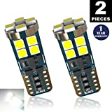LUYED 2 X 730 Lumens Extremely Bright 9-30v 3030 12-EX Chipsets Canbus W5W 194 168 2825 Led Bulbs,Xenon White(Brightest 194 Led On amazon)