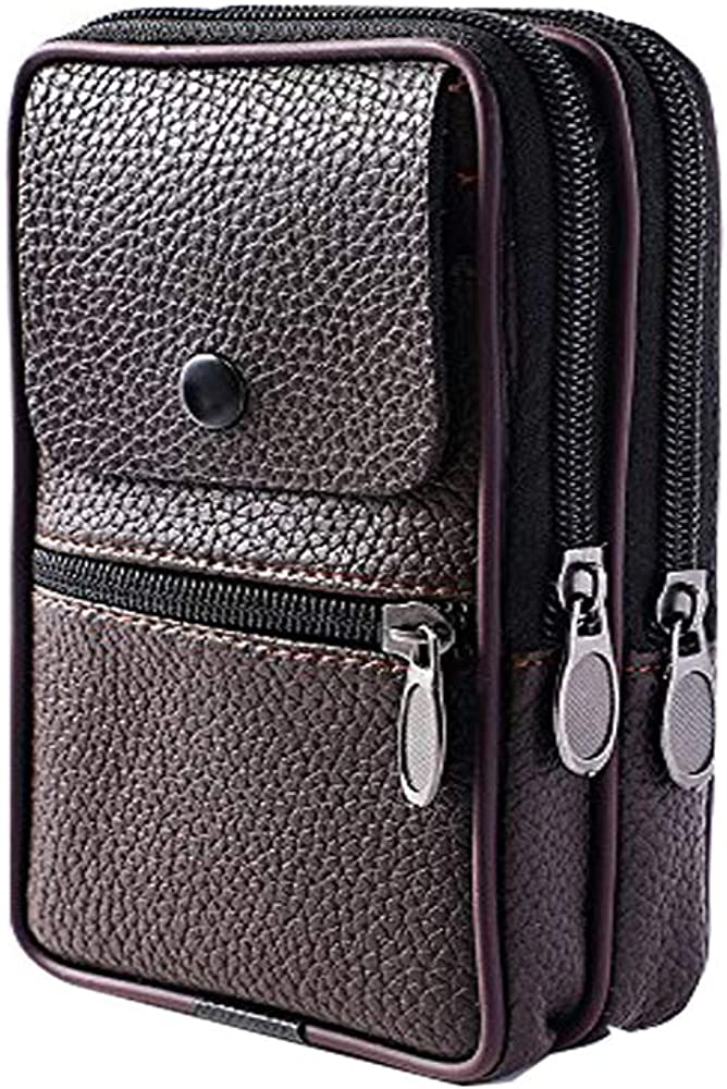 Cinhent Wallet Women Vintage Men Pure Color Leather Handbag Coin Phone Bag