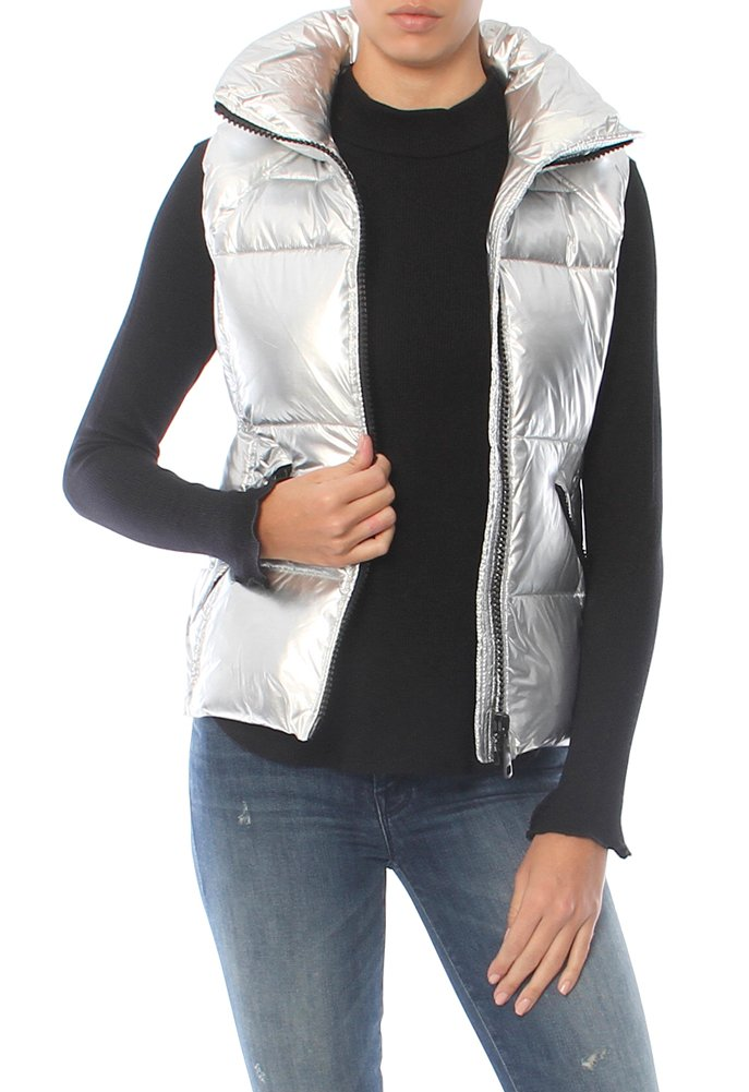 SAM. Women's Freedom Vest, Silver Foil, Medium