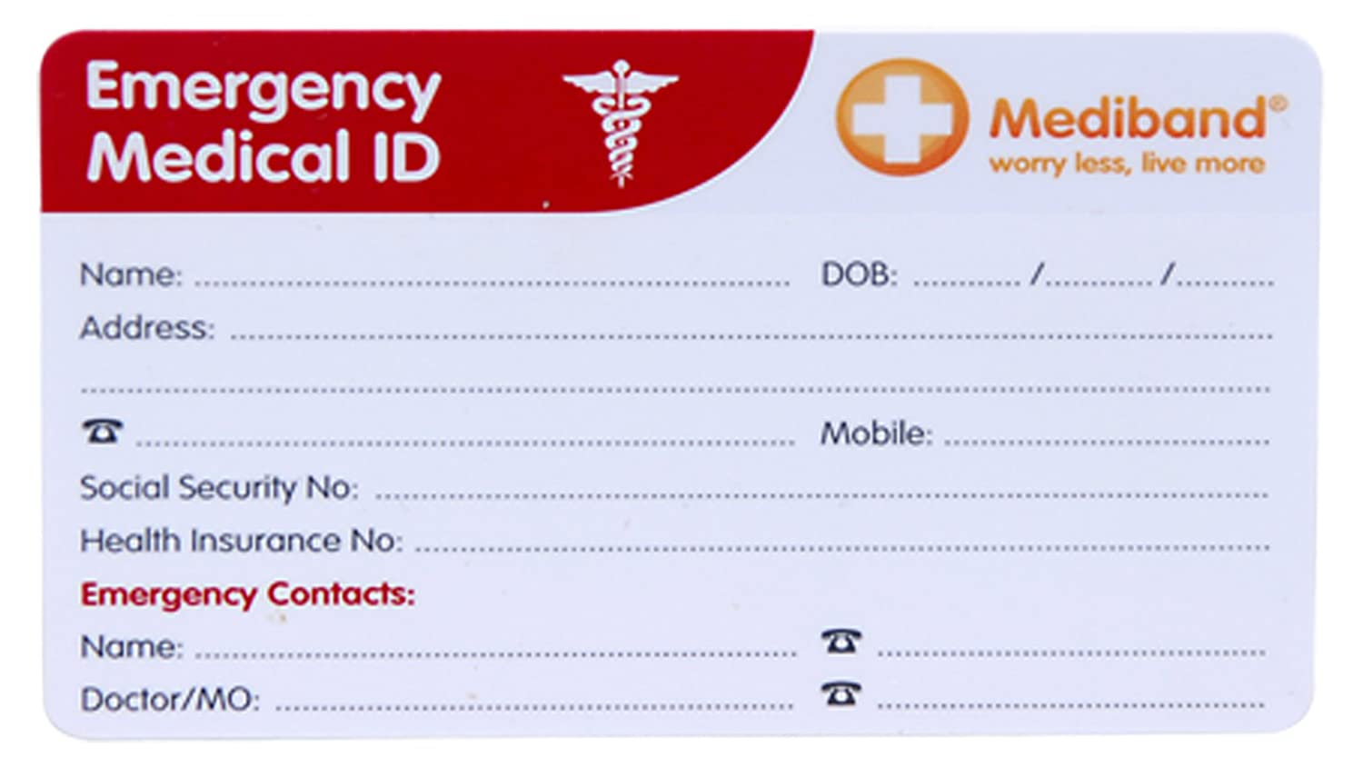 Amazon Com Emergency Information Medical Wallet Card Health