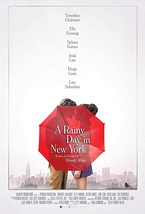 Amazon.com: A Rainy Day in New York - Movie Poster Print Wall Decor - 18 by  28 inches. - (NOT A DVD): Posters & Prints