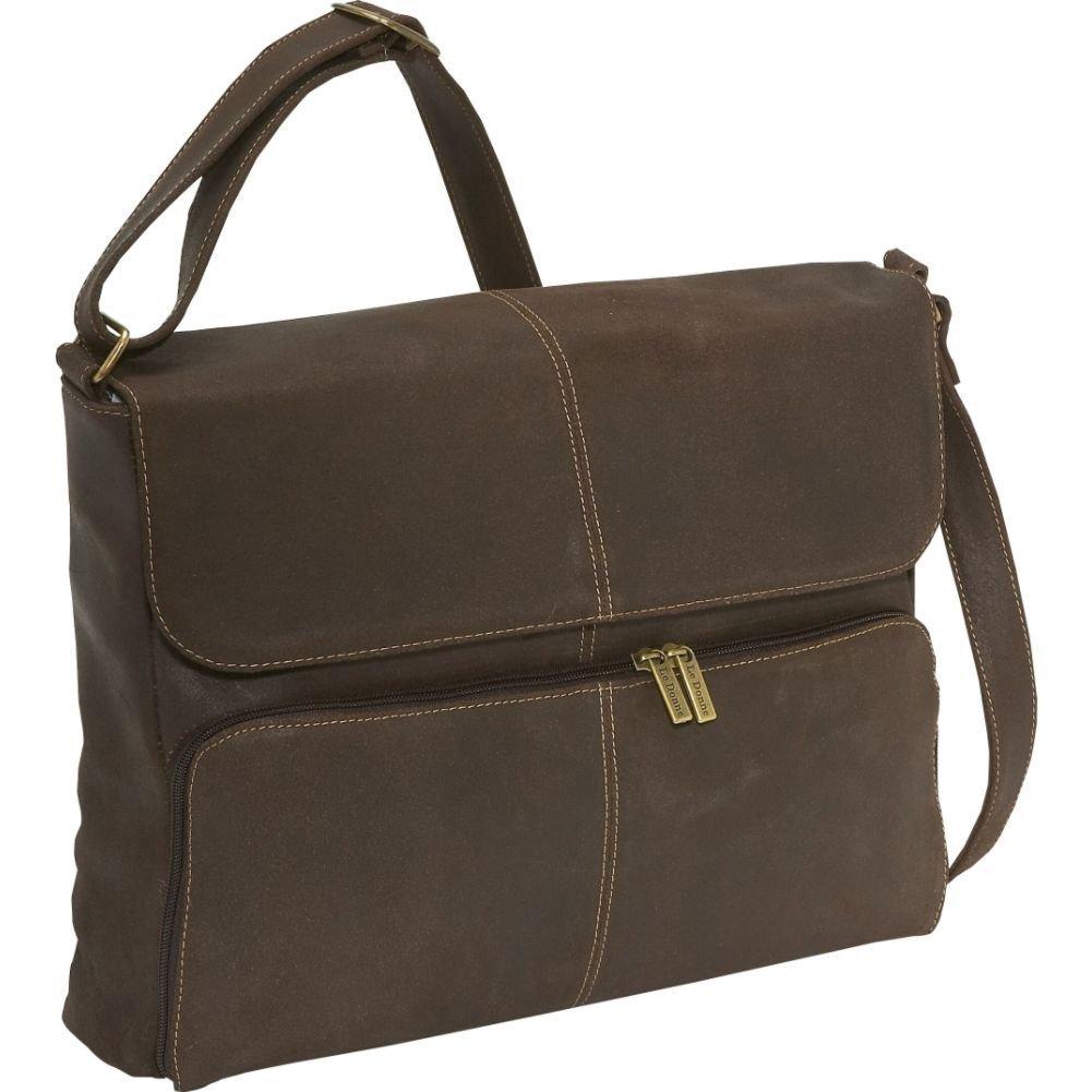 LeDonne Distressed Leather 1//4 Flap Messenger