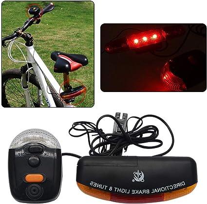 SUNWAN LED Luz trasera de freno de bicicleta luz de cruce, luz de ...