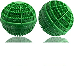 BERON Set of 2 Eco-Friendly Laundry Balls for 1500 Washings (Green)
