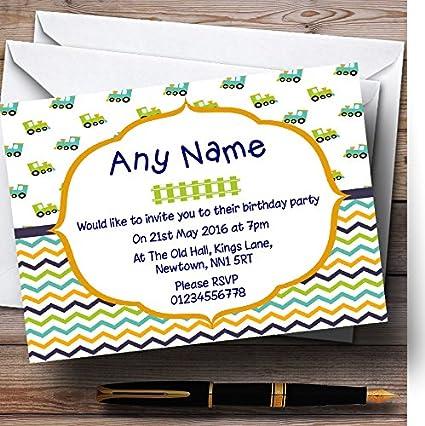 Train Birthday Party Invitations