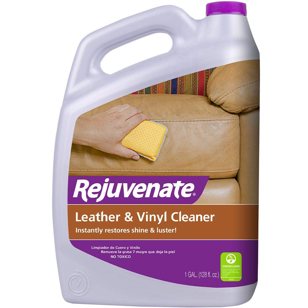Rejuvenate Leather & Vinyl Cleaner - Rehydrate, Restore Luster and Protect All Leather & Vinyl Surfaces with No Greasy Residue (1 Gallon) by Rejuvenate