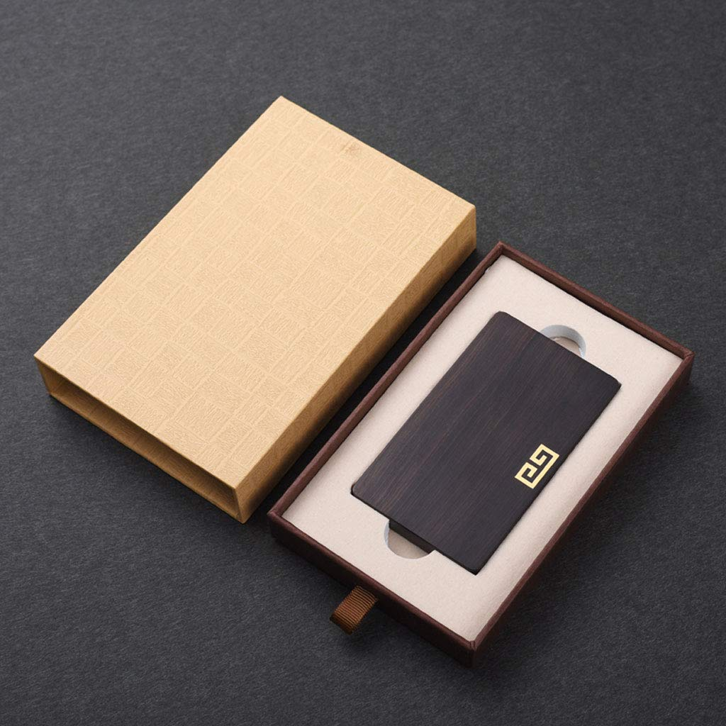 Zhengfangfang Tarjetero de Madera para Tarjeta de de Tarjeta Visita de Sandalwood, Madera Maciza - Diseño de tamaño pequeño y liviano - para Uso en Bolsillo, Cartera o sobremesa - Caja de Regalo cafa5b