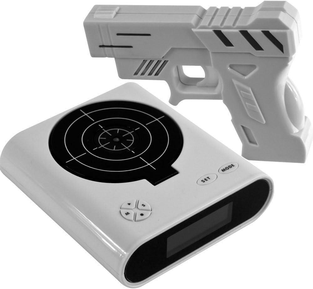 Althemax® Panel Target Shooting Reloj juguete pistola de alarma de disparo Pantalla LCD Juegos Juguetes Regalos blancos
