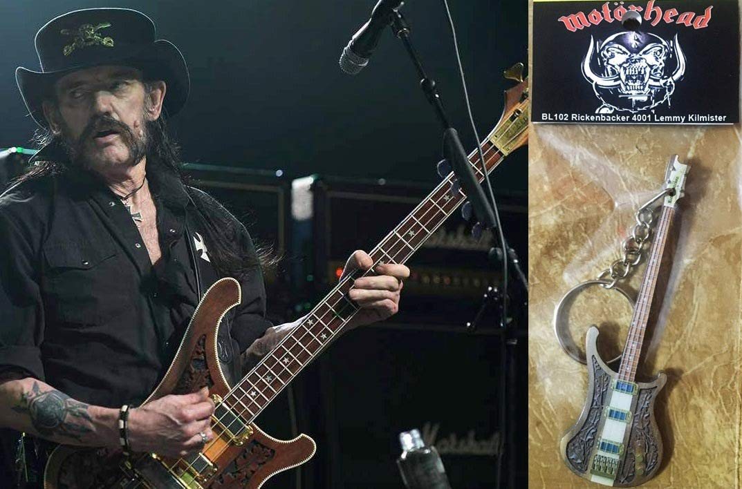 Amazon.com: Llavero Guitarra BassRickenbacker 4001 Lemmy ...