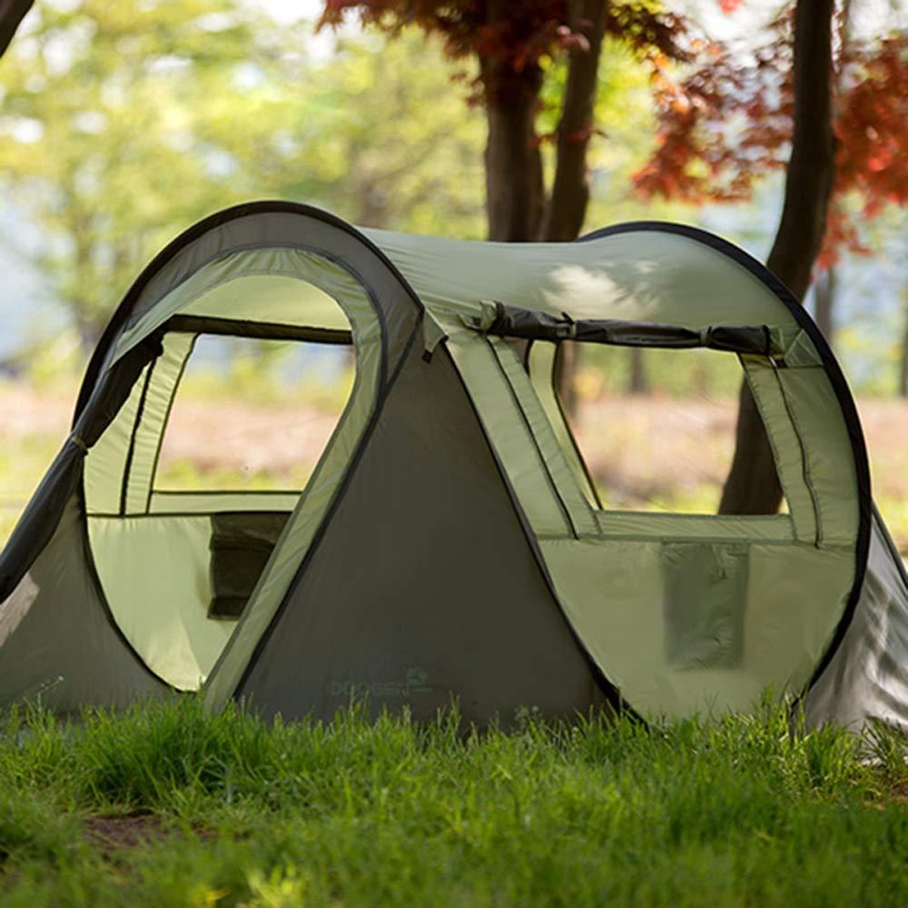 SUPREAN Tenda Automatica Pop-up Veloce, Campeggio all'Aperto, Spiaggia, Escursioni, Riunioni di Famiglia, 3-4 Persone,verde