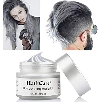 Hailicare 120g Silber Grau Haarwachs Manner Und Frauen