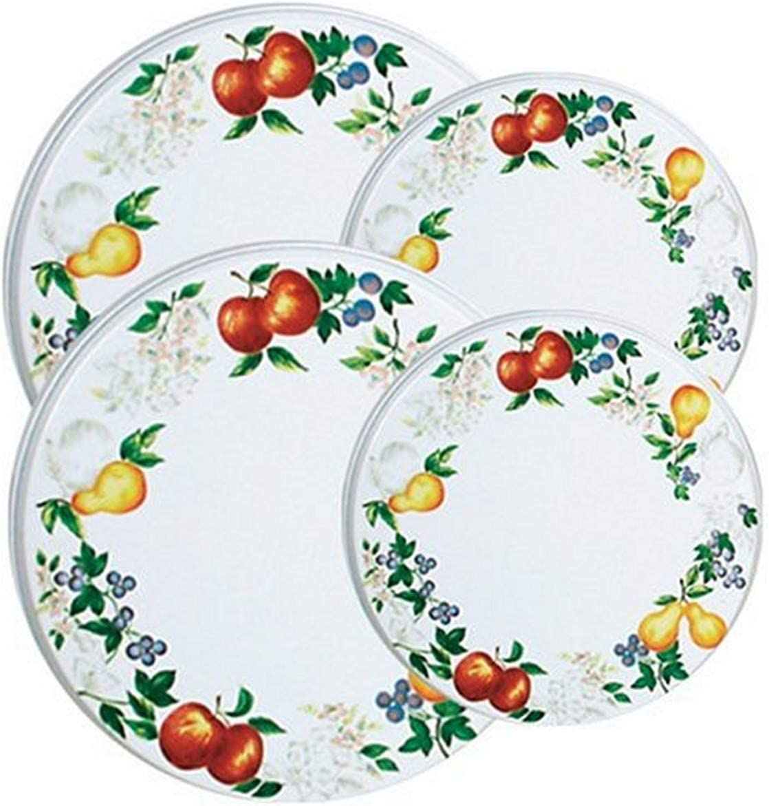 Corelle Coordinates by Reston Lloyd Electric Stovetop Burner Covers, Set of 4, Chutney