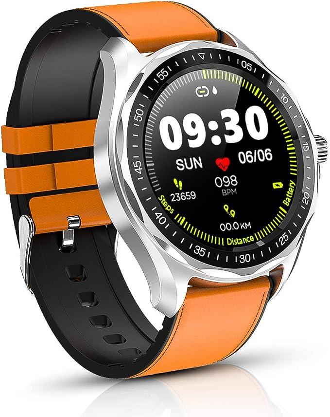 BYTTRON Relojes Inteligentes, Rastreador de Ejercicios con Pantalla táctil Full HD de 1.3 con Rastreador de sueño de Ritmo cardíaco, Reloj de Ejercicios Impermeable 5ATM, Smart Reminder Smartwatch: Amazon.es: Electrónica