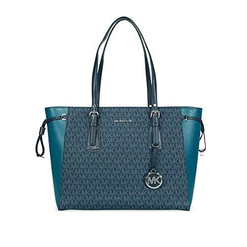 b215a970c718 Image Unavailable. Image not available for. Color: Michael Kors Voyager  Medium Multifunction Top-Zip Tote ...