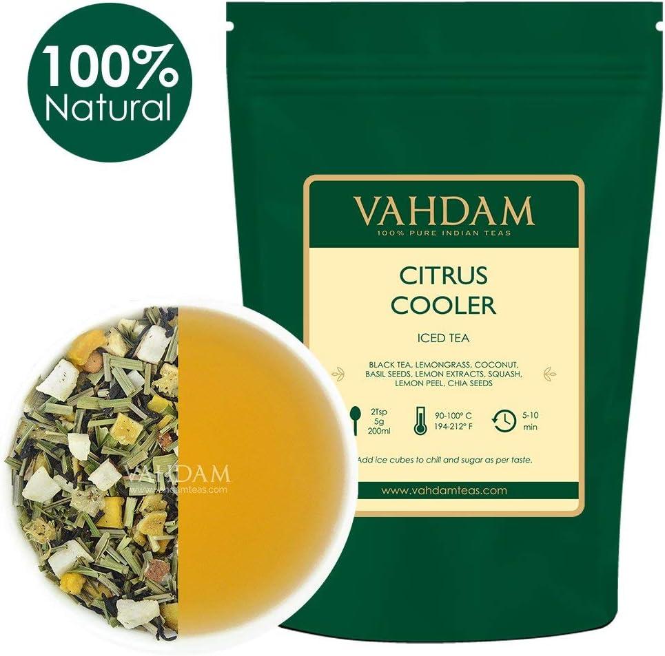 VAHDAM, Té Helado Citrus Cooler | 40 porciones, 8 cuartos ...