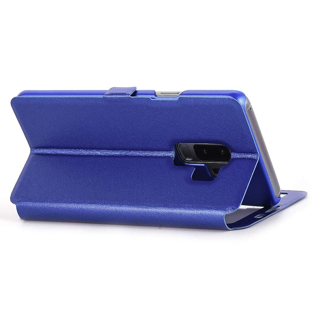 Galaxy S9 Plus Klapph/ülle Gold Magnetische Leder H/ülle Tasche Fenster Ledertasche Klappbar Handyh/ülle Handytasche Leder-Etui Flip Case Cover BookStyle St/änder Schutzh/ülle f/ür Samsung Galaxy S9 Plus